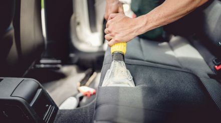 Cleaning Car with Wet Vacuum