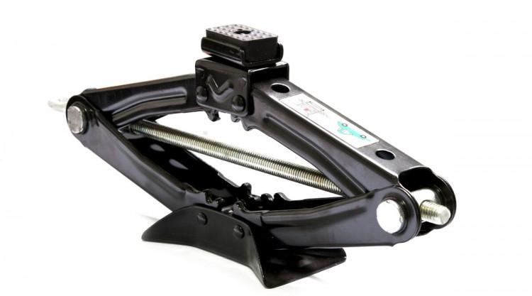 a black scissor jack, isolated on white