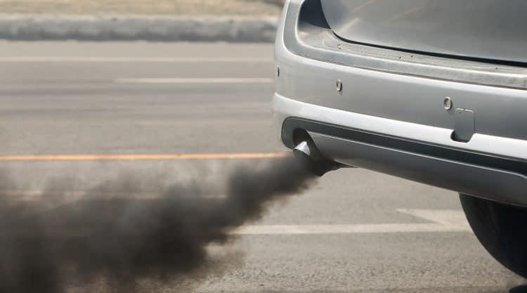 Car Smoking at Exhaust Pipe