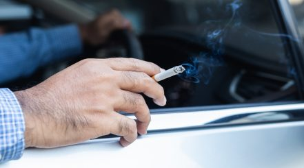 Cigarette Burns on Car Seat