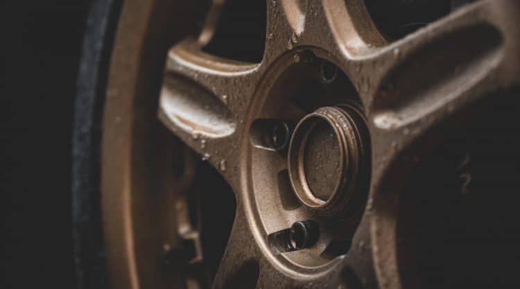 Plasti Dipped Wheels on Car