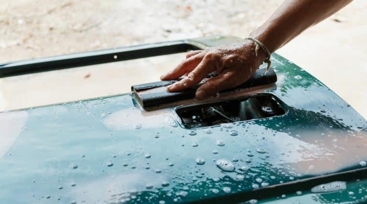 Wet Sanding a Vehicle