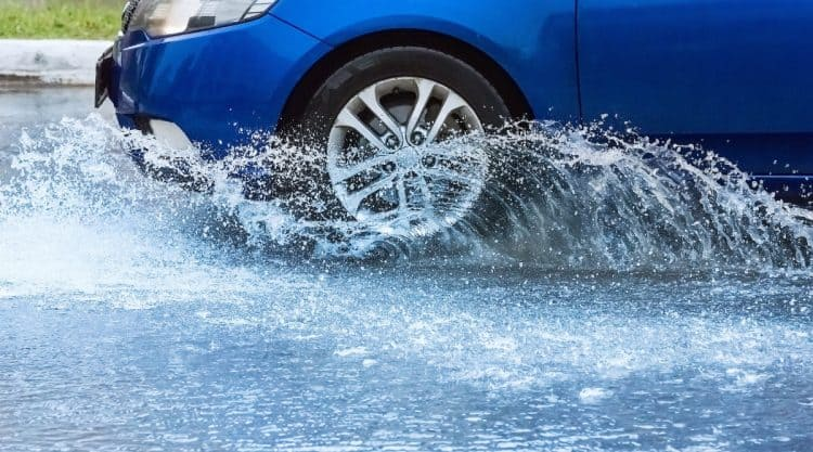 Car Driving With Water Inside