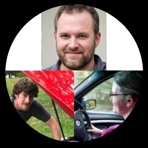Photo montage of the 3 authors on vehiclescene.com